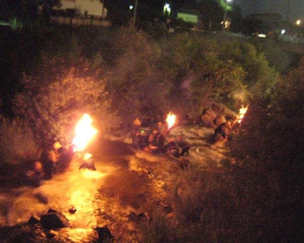 大川原火流し
